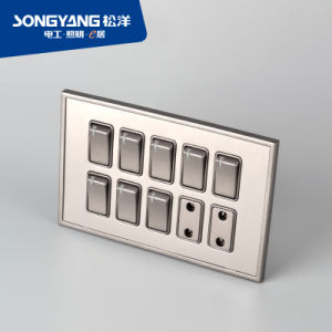 Stainless Steel Series 8gang&2socket Wall Socket