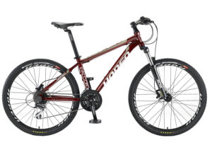 "26"" 24sp, Dark Red New Fashion Aluminum Mountain Bike"