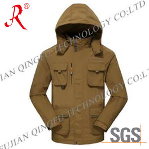 Waterproof and Breathable Ski Jacket (QF-6086) pictures & photos