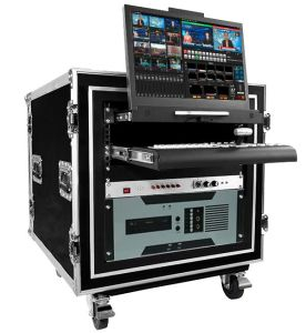 Full HD Video Switcher Chroma Trackless Studio with Mess 3D Virtual Sets H. 264 Encoder Webcasting Support Mooc Recording Studio