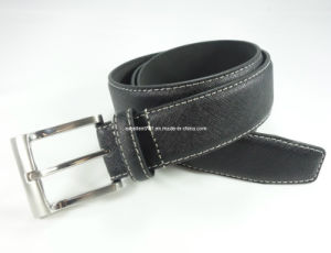 Handsome Man Leather Belt with Pin Buckle (EUBL0728-35)