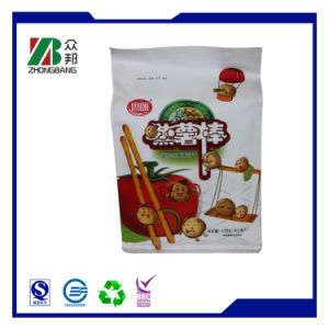 Factory Price Stand up Zipper Flat Bottom Bag for Snack pictures & photos