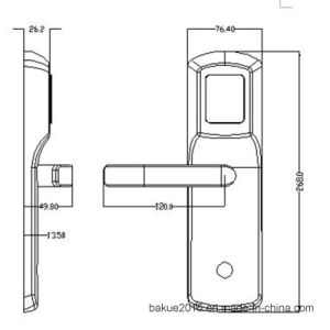 China Factory Price Electronic Door Card Lock Digital Lock pictures & photos