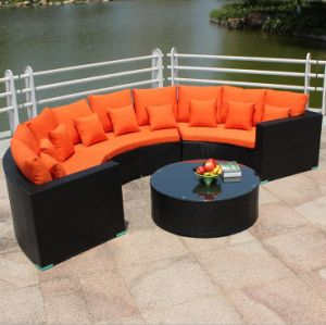 Circular Outdoor Sofa Garden Sofa Wicker Furniture Rattan Sofa Outdoor Furniture S202 pictures & photos