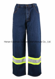 100%Cotton Reflective Work Jean pictures & photos