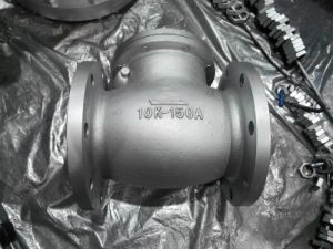 JIS 10K FLANGED END CAST IRON SWING CHECK VALVE pictures & photos
