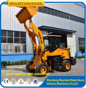 1200kg Multi-Function Small Weifang Wheel Mini Loader with Bucket pictures & photos