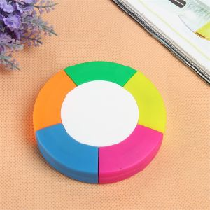 5 Colors Circle Shaped Fluorescent Marker Pen for Gift pictures & photos
