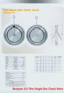 Bestyear S/S Thin Single Disc Check Valve pictures & photos