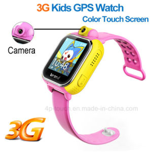 3G Kids GPS Tracker Watch with Big Touch Screen (D18) pictures & photos
