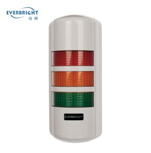 90mm Wall Mounted Three Layer LED Warning Light IP65 for Machine