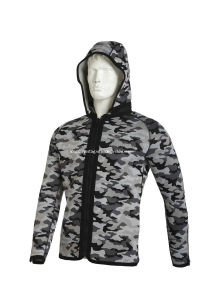 Camouflage Hooded Fishing Jacket (HXFG453) pictures & photos