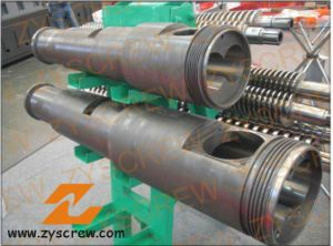 Cm55 Kmd Conical Twin Screw Barrel Double Screw Barrel PVC Pipe Extruder pictures & photos