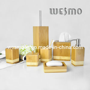 High-End Two-Tone Bamboo Bath Set (WBB0601A) pictures & photos