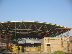 Large Span Steel Space Frame Structure Used for Industrial Storage/Workshop/ Warehouse pictures & photos
