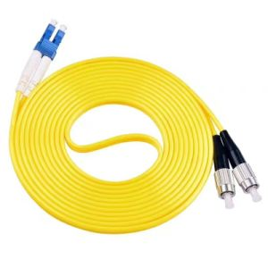 FC/Upc-FC/Upc Optical Fiber Patch Cable Single Mode Duplex RoHS Jacket pictures & photos