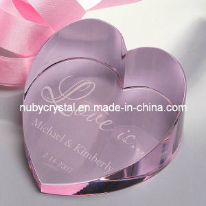 Crystal Love Heart Paperweight for Wedding/Souvenir Personalized Gift 50mm pictures & photos