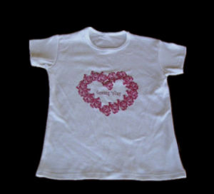 Flower Design Compressed T-Shirt for Promotion (YT-773) pictures & photos