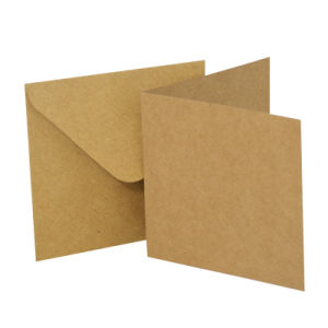 "Blank Greeting Card, 6 X 6"", Kraft 10pk pictures & photos"