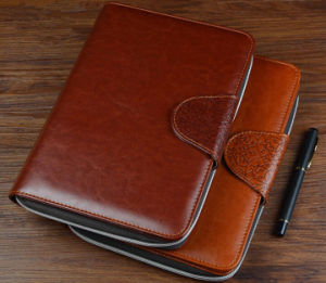 Multi-Fonction Leather Zipper Notebook pictures & photos