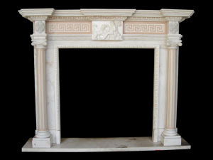 Marble Column Fireplace (FRP325) pictures & photos