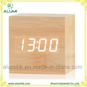 LED Wood Clock Vintage Table Wooden Alarm Clock MDF Clock pictures & photos