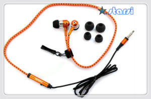 Ali Funny Zipper Earphone and Heaphone (ST-E07)