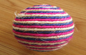 Red White and Blue Sisal Round Ball Pet Toys pictures & photos