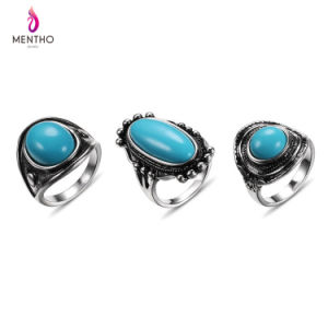 New Hot Sale Retro Ethnic Alloy Women′s Ring Set Jewelry pictures & photos