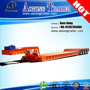4 Axles 100t Hydraulic Gooseneck Detachable Low Bed Semi Trailer pictures & photos