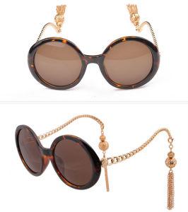 2015 Wholesale Gorgeous Elegant Lady Round Sunglasses Big Box Chain Tassel Sunglasses Female Personality Lantern Sun Glasses (69113)