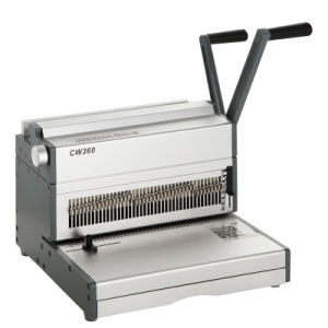 "Manual 14""Double Wire Binding Machine (CW360) pictures & photos"