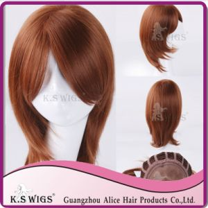 Mono Lace Hair Wig Japanese Kanekalon Synthetic Wig pictures & photos
