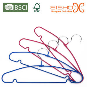 Multiple Color PVC Coating Metal Wire Hanger for Clothes (TS1013) pictures & photos