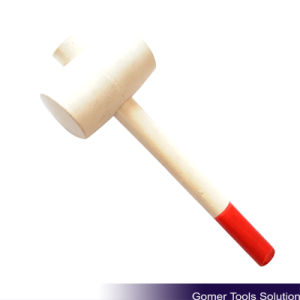Rubber Mallet with Wooden Handle (T05046)