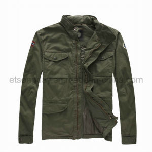 Army Green 100% Cotton Men′s Padding Winter Jacket (NAPA10GB77) pictures & photos