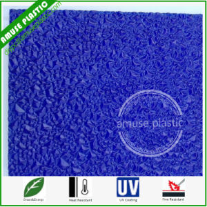 Blue Polycarbonate Crystal Big Texture PC Embossed Sheet for Decoration pictures & photos