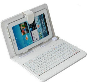 Keyboard Leather Case for Tablet PC
