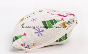 Eco Cotton Material Cotton Drawstring Pouch Christmas Xmas Gift Bag pictures & photos