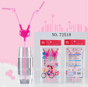 Promotion Gift Creative Love Straw pictures & photos