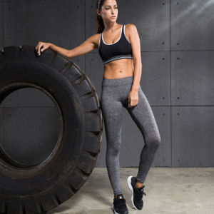 Nylon and Spandex Women Leggings Plain Gym Wear Yoga Pants pictures & photos