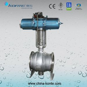 Pneumatic Pipeline Trunnion Mounted Ball Valve with Extension Device pictures & photos