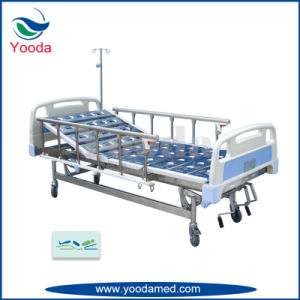 Stainless Steel Two Crank Manual Hospital Bed pictures & photos