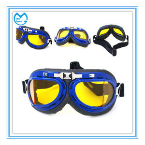 Yellow PU Foam Sporting Harley Goggles for Motorcycle pictures & photos
