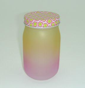 Frost Muti Color Mason Jar Glass Jar 500ml 1000ml Glassware pictures & photos
