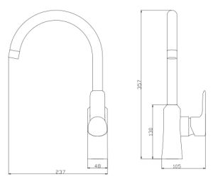 Exquisite Brass Deck Mounted Sink Kitchen Faucet (ZS80705) pictures & photos