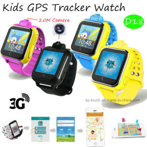 3G Smart Kids GPS Tracker Watch with 2.0m Camera (D18) pictures & photos