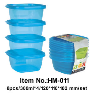 Microwave Plastic Food Storage Container Box (HM011)