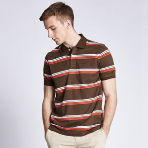 China Factory Cheap Custom Mens Polo Collar Striped T Shirt pictures & photos