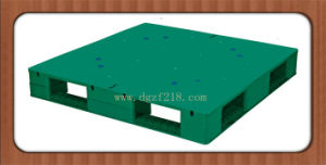 Canada 1100X1100X150mm Heavy Duty Flat Plastic Pallet for Shipping Supplier pictures & photos